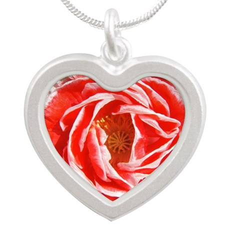 Shirley Poppy Silver Heart Necklace