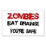 Zombies Eat Brains! Stickers