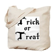 Classic Canvas Trick or Treat Bag, black lettering
