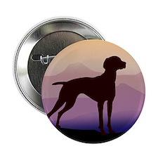 vizsla dog w/purple mountains Button