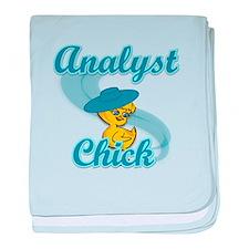 Analyst Chick #3 baby blanket