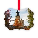Split Rock Lighthouse Picture Ornament