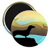 dachshunds by the sea 2.25&quot; Magnet (10 pack)