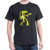 Yellow BassMan Black T-Shirt T-Shirt