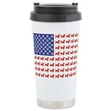 Patriotic Dachshund/USA Travel Mug