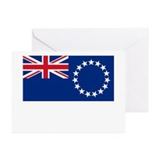 The Cook Islands Flag Picture Greeting Cards (Pack