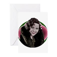 Art Deco woman in fur Greeting Cards (Pk of 20)