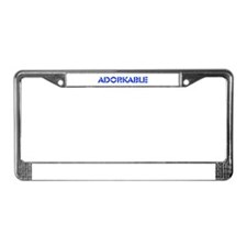 Adorkable License Plate Frame