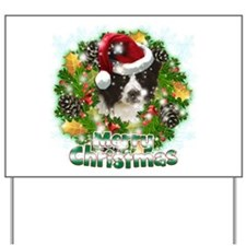 Merry Christmas Border Collie.png Yard Sign