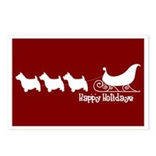 "Norwich Terrier ""Sleigh"" Postcards (Package of 8)"