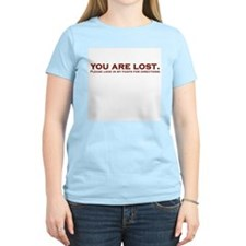 You Are Lost Women's Pink T-Shirt