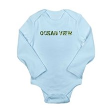 Ocean View, Vintage Camo, Long Sleeve Infant Bodys