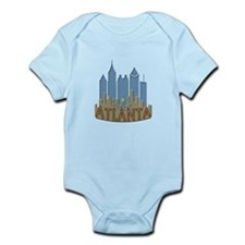 Atlanta Skyline Newwave Beachy Infant Bodysuit