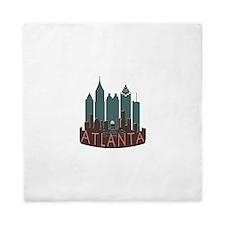 Atlanta Skyline Newwave Chocolate Queen Duvet
