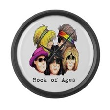 Rock of Ages Large Wall Clock