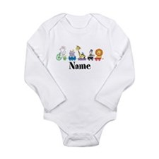 Personalized Noahs Ark Long Sleeve Infant Bodysuit