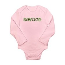 Inwood, Vintage Camo, Long Sleeve Infant Bodysuit
