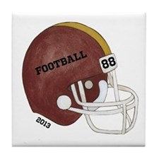 Football Helmet Tile Coaster