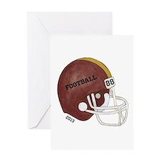 Football Helmet Greeting Card