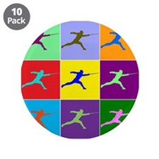 "Pop Art Lunge 3.5"" Button (10 pack)"