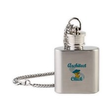 Architect Chick #3 Flask Necklace