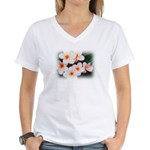 plumeria.jpg Women's V-Neck T-Shirt