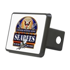 US Navy Seabees Blue We Fight Hitch Cover