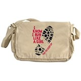 I Know I Run Like a Girl Messenger Bag