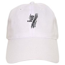 I Know I Ride Like A Girl Baseball Cap