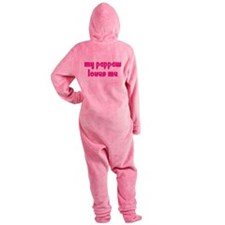 pappawchickpink.png Footed Pajamas