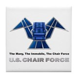 Funny Chairs Tile Coaster