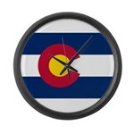 Flag of Colorado Large Wall Clock