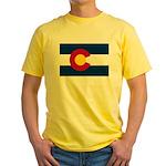 Flag of Colorado Yellow T-Shirt