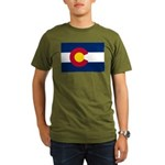 Flag of Colorado Organic Men's T-Shirt (dark)