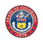 Great Seal of Colorado Round Coaster