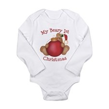Beary 1st Christmas Infant Creeper Body Suit
