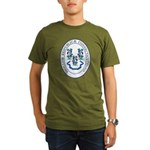 Great Seal of Connecticut Organic Men's T-Shirt (d
