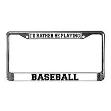 Baseball License Plate Frame