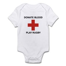 Donate Blood - Play Rugby Infant Bodysuit