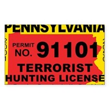 terrorist-hunting-license-XL-PA Decal