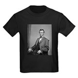 Pres Abraham Lincoln Ash Grey T-Shirt gift idea T-