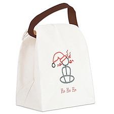 Yoga Christmas Girl-ArtinJoy Canvas Lunch Bag