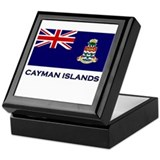 The Cayman Islands Flag Gear Keepsake Box