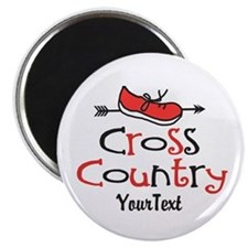 Customize Cross Country Shoe Magnet