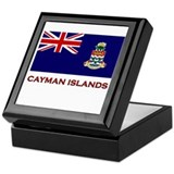 The Cayman Islands Flag Merchandise Keepsake Box