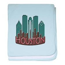 Houston Skyline NewWave Chocolate baby blanket