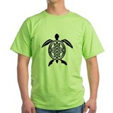 Blue Celtic Turtle Ash Grey T-Shirt T-Shirt
