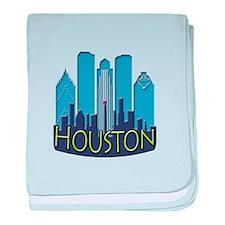 Houston Skyline NewWave Cool baby blanket