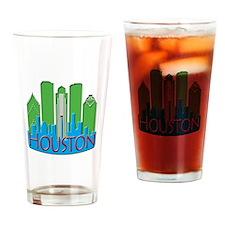 Houston Skyline NewWave Primary Drinking Glass
