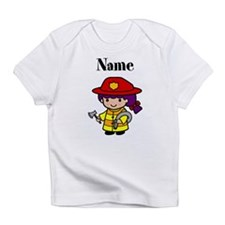Personalized Girl Firefighter Infant T-Shirt